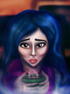 cartoonish_karou_by_thesearchingeyes-d7nxeni