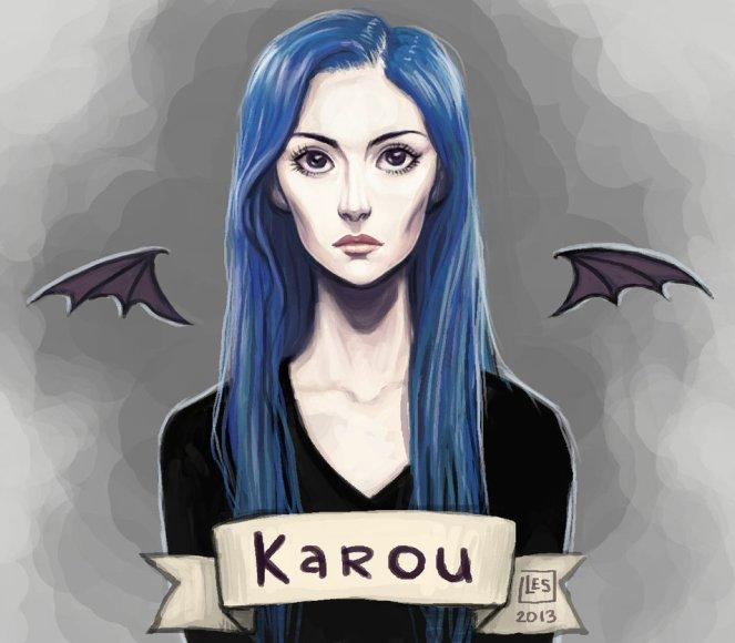 fan_art_karou_by_blackbirdink-d6xypaz