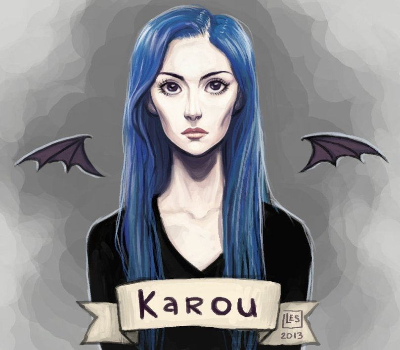 fan_art_karou_by_blackbirdink-d6xypaz
